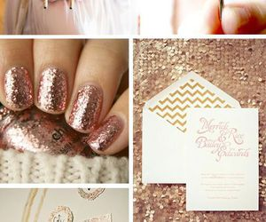 bride, dress, and glitter image