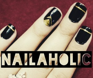 and, golden, and nailart image