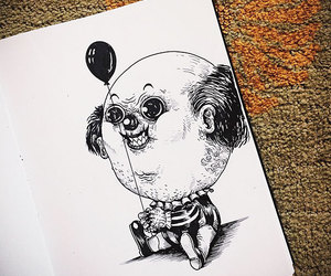 pennywise, draw, and babay image