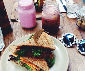 food, drink, and sandwich image
