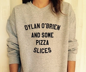 dylan o'brien, pizza, and teen wolf image