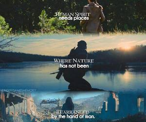 nature, spirit, and katniss image