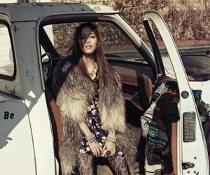 fashion, fur coat, and garage sale image