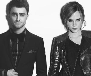 black and white, cute couples, and emma watson image