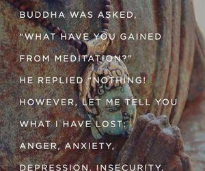 Buddha, quotes, and meditation image