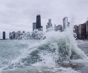 city and waves image