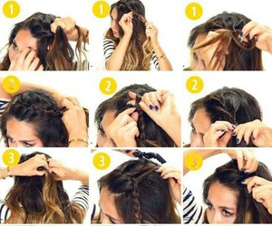 braid, hair, and diy image