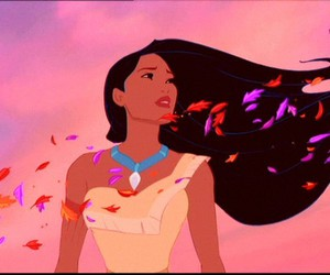 beautiful, pocahontas, and leaves image