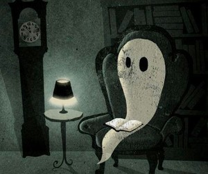 book, ghost, and reading image