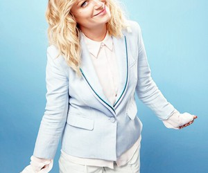 Amy Poehler, blue, and parks and recreation image