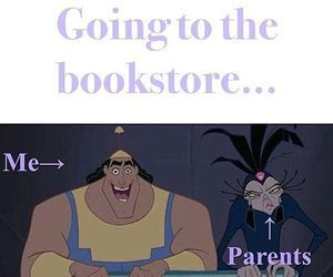 books, bookstore, and disney image