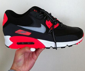 air max, black and white, and fitness image