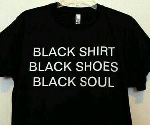 black, soul, and shirt image