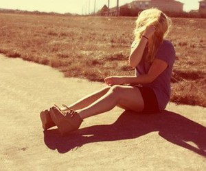 girl, photography, and blonde image