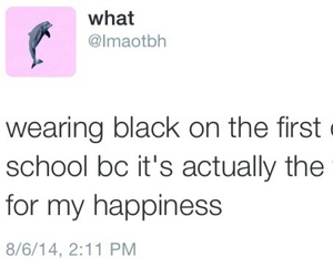 school, black, and funny image