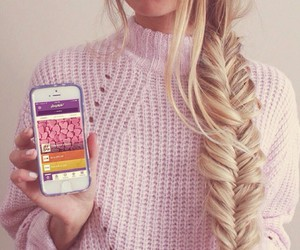 blond, blond hair, and girls image