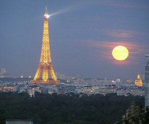 france, night, and torreeiffel image