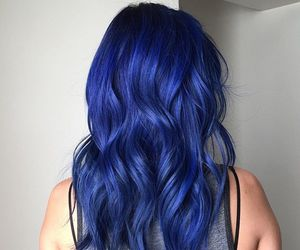 blue hair, girl, and color image