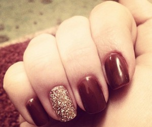 brown, nails, and gold image
