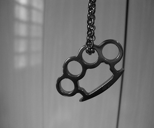 black and white, brass knuckles, and soco ingles image