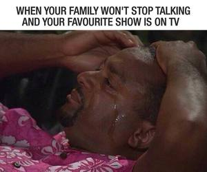cry, tv, and family image