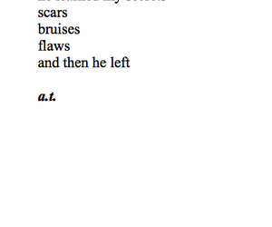quotes, sad, and scars image