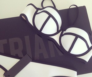 bikini, white, and triangl image