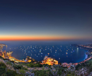 monaco, night, and sea image