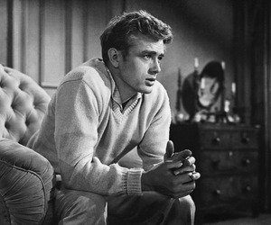 james dean, black and white, and actor image