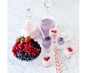 berries, romantic, and pink image
