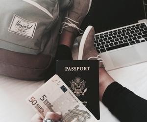 travel, passport, and money image