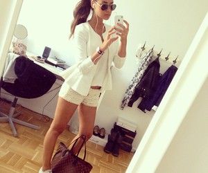 fashion, girl, and white image
