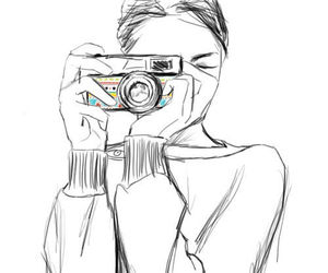 girl, art, and camera image