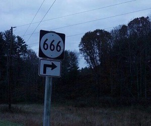 666, grunge, and dark image