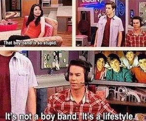 one direction, icarly, and funny image