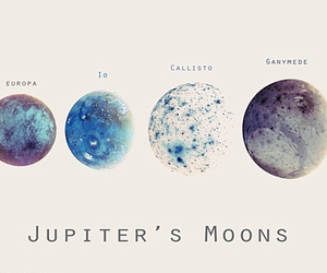 moon, jupiter, and space image