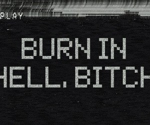 bitch, hell, and burn image