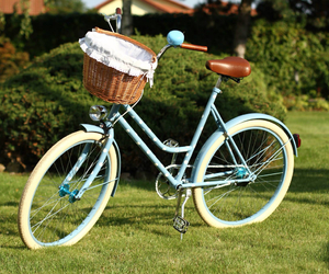 basket, bicycle, and bicycles image