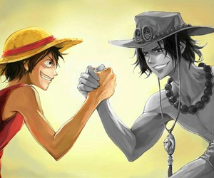 one piece, ace, and luffy image