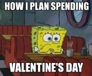 alone, spongebob, and valentine image