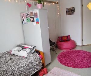 animal print, girly, and pink room image