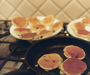pancakes, breakfast, and cake image