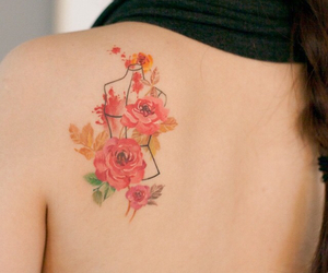 design, flowers, and tattoo image