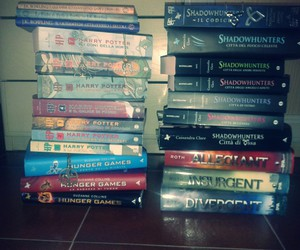 harry potter, hunger games, and shadowhunters image