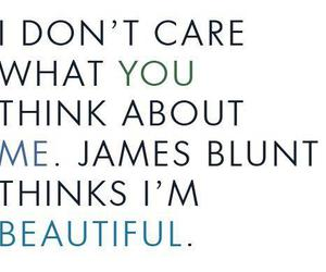 beautiful, james blunt, and quote image