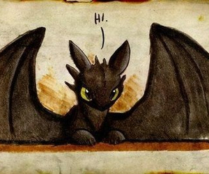 dragon, hi, and toothless image