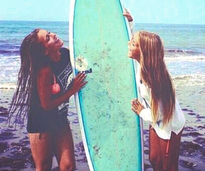 surf, girls, and summer image