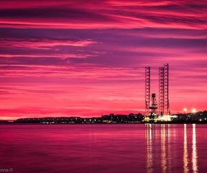 pink, scotland, and sky image