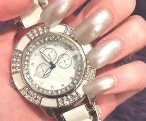 diamond, watch, and nails image
