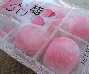 pink, food, and mochi image